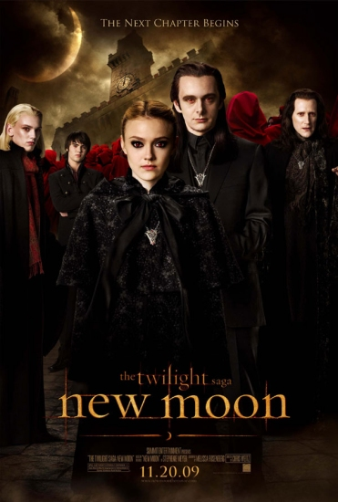New Moon poster featuring Dakota Fanning and Michael Sheen