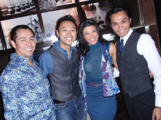Alan Ariano, Billy Bustamante, Angelica-Lee Aspiras and Romney Piamonte
