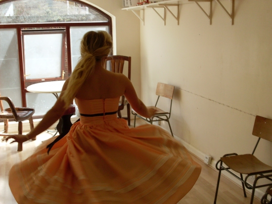 Sophie Isaacs (Toffee) gives us a twirl in her prom dress!