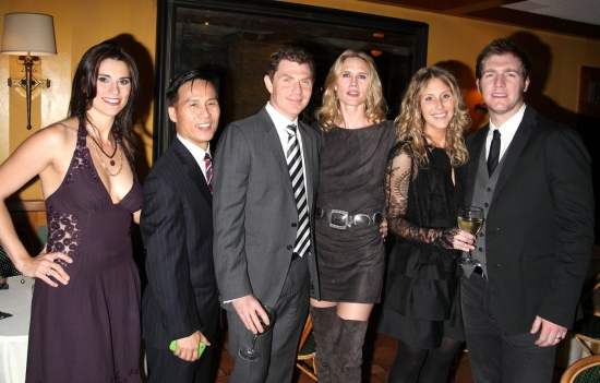 Milena Govich, B.D. Wong, Bobby Flay, Stephanie March, Robyn Chamberlain and Cliff Chamberlain