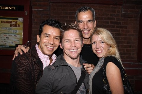 Sergio Trujillo, Jack Noseworthy, Jerry Mitchell and Kelly Devine