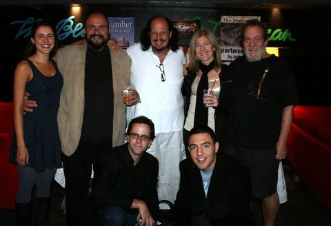 Cast of Underground, Marianna McClellan, Phillip J. Cutrone, Peter Iasillo Jr., Tina Alexis Allen, Larry Greenbush, (bottom)  Doug Nyman and Jay Rohloff