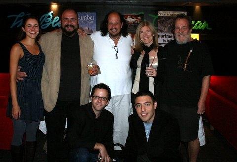 Cast of Underground, Marianna McClellan, Phillip J. Cutrone, Peter Iasillo Jr., Tina Alexis Allen, Larry Greenbush, (bottom)  Doug Nyman and Jay Rohloff
