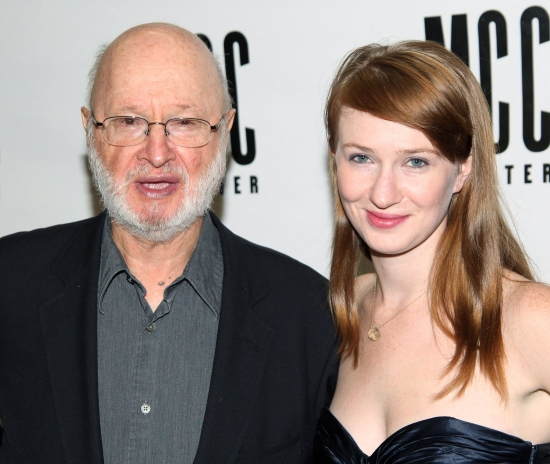 Jules Feiffer and Halley Feiffer at STILL LIFE Opening Night Party