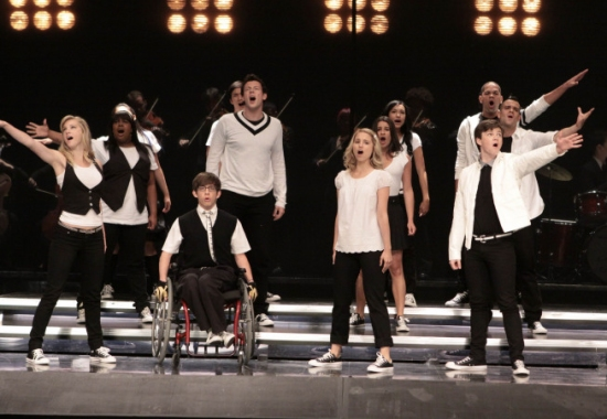 Heather Morris, Amber Riley, Kevin McHale, Cory Monteith, Harry Shum Jr, Dianna Agron, Lea Michele, Naya Rivera, Chris Colfer, Mark Salling and Dijon Talton