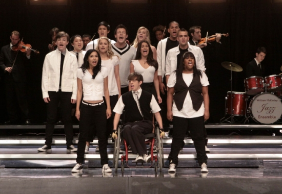 Chris Colfer, Jenna Ushkowitz, Harry Shum Jr, Dianna Agron, Cory Monteith, Heather Morris, Lea Michele, Dijon Talton and Mark Salling, Naya Rivera, Kevin McHale and Amber Riley at GLEE - Upcoming Episode Sneak Peeks
