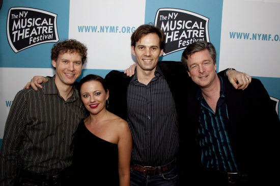 Kevin Earley, Margaret Nichols, Michael Halling and Jeff Breithaupt at NYMF 2009 - Cast and Creative Teams 'Party Down'