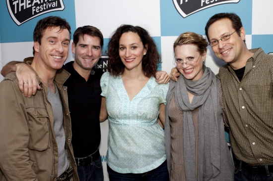 Timothy Alex, Chad Beguelin, Barbara Walsh, Jennifer Laura Thompson and Matthew Sklar