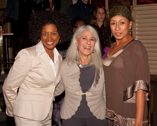 Marva Hicks, Jamie deRoy and Tamara Tunie at THE NIGHT WATCHER Opening Night