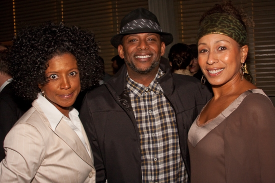 Marva Hicks, Darnell Williams and Tamara Tunie at THE NIGHT WATCHER Opening Night