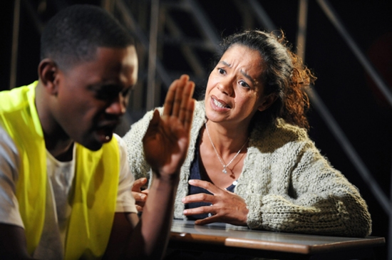 Aml Ameen and Jaye Griffiths