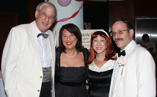 Dr. Lawrence & Barbara Stein with Dr. John and Joanne Gentile at THE MARVELOUS WONDERETTES Opening Night Performance At The Miracle Theatre