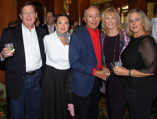 John Wallace, Phillis Oeters, David and Marlene Berg, and Louise Wallace at THE MARVELOUS WONDERETTES Opening Night Performance At The Miracle Theatre