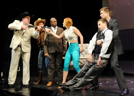 Joe Coots, Tituss Burgess, Megan Sikora, Daniel Reichard and Ensemble