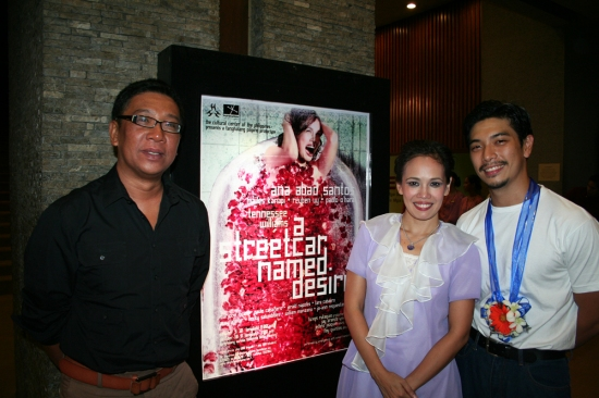 Director Floy Quinto, Ana Abad Santos and Reuben Uy