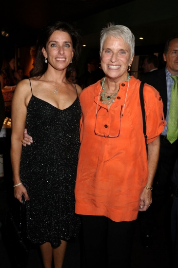 Sandra Coudert with guest at Rattlestick Theatre 15th Anniversary Gala Benefit