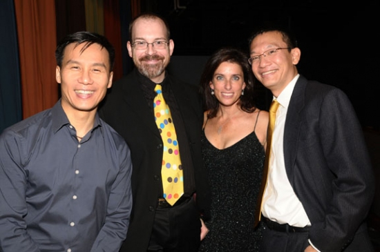 B.D. Wong and Sandra Coudert with guests at Rattlestick Theatre 15th Anniversary Gala Benefit