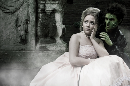 Sophie Isaacs and Jonathan Vickers star in Zombie Prom
