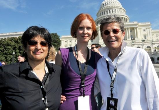 Urvashi Vaid, Cynthia Nixon and Kate Clinton Photo