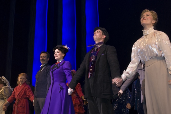 Juliette Allen Angelo, Jeff Binder, Laura Michelle Kelly, Christian Borle and Rebecca Luker