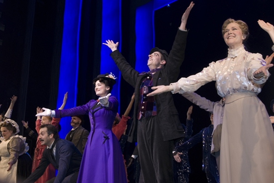 Jeff Binder, Laura Michelle Kelly, Christian Borle and Rebecca Luker