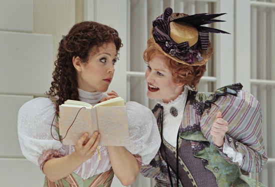 Erin Krakow and Heidi Armbruster at THE IMPORTANCE OF BEING EARNEST