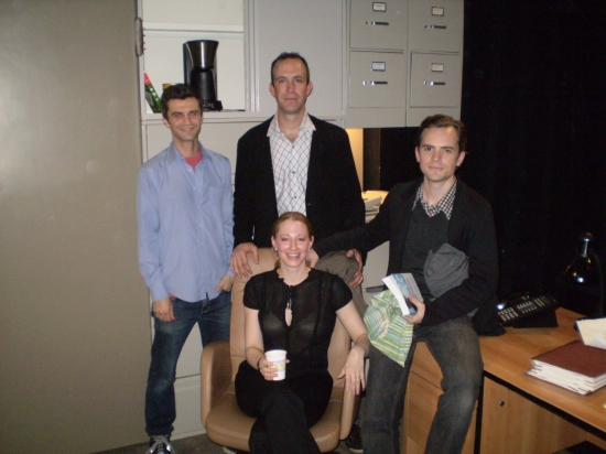 Michael Crane, Josie Whittlesey, Christopher Burns and David Jenkins