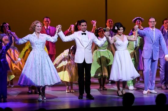 Dee Hoty, John Stamos, Gina Gershon, and Bill Irwin and the cast of Bye Bye Birdie