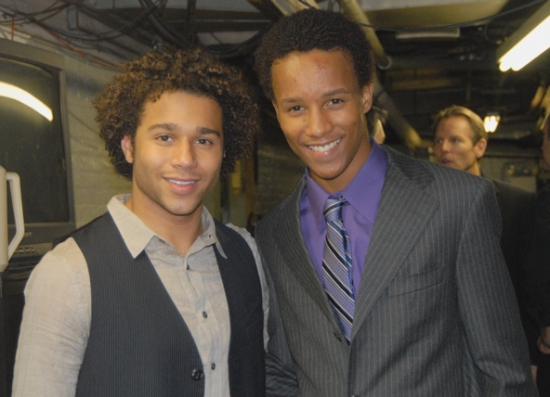 Corbin Bleu and Kendrick Jones