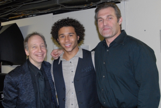Scott Siegel, Corbin Bleu and Marc Kudisch