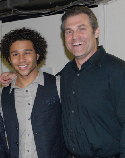 Corbin Bleu and Marc Kudisch
