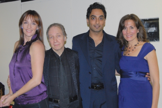 Julia Murney, Scott Siegel, Manu Narayan and Janet Metz