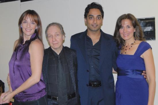 Julia Murney, Scott Siegel, Manu Narayan and Janet Metz