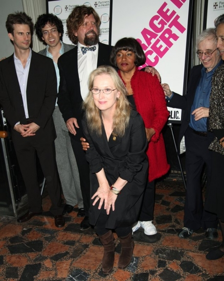 Frederick Weller, Geoffrey Arend, Jenifer Lewis, Meryl Streep and Austin Pendleton at COURAGE IN CONCERT One-Night-Only Benefit Performance at The Public Theater