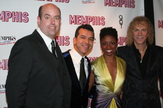 Christopher Ashley, Sergio Trujillo, Montego Glover and David Bryan