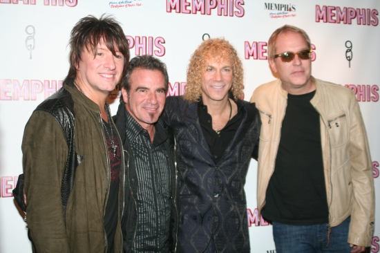 Bon Jovi's Richie Sambora, Tico Torres, David Byran and Hugh McDonald