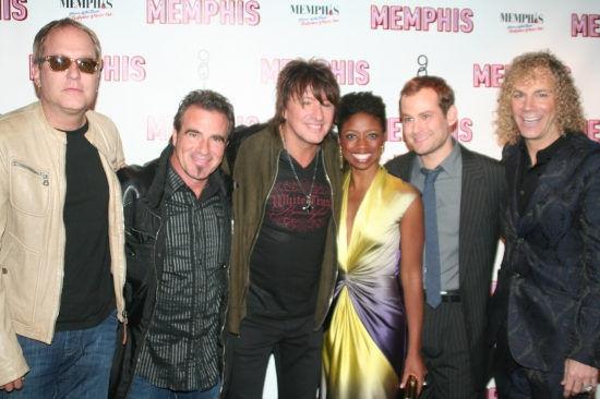 Hugh McDonald, Tico Torres, Richie Sambora, Montego Glover, Chad Kimball and David Bryan