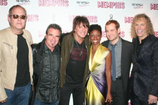 Hugh McDonald, Tico Torres, Richie Sambora, Montego Glover, Chad Kimball and David Bryan