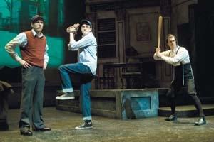 Michael Navarra as Reuven Malter, Thomas Gorrebeeck as Danny Saunders and Jonathan Bock as Young Reuven Malter