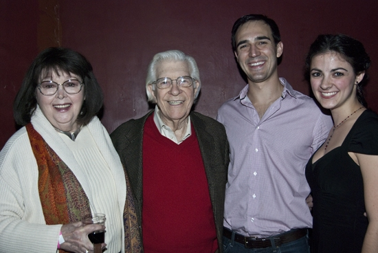 Original MARATHON '33 cast members Libby Dean and Lee Allen with Noah Aberlin and Kirsten Tucker