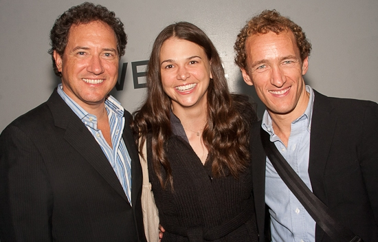 Kevin McCollum, Sutton Foster and Jeffrey Seller