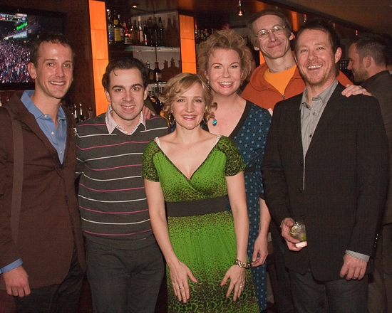 Jeff Whitty, Rob McClure, Maggie Lakis, Jennifer Barnhart, Rick Lyon and Cullen R. Titmas