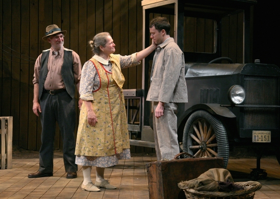 John Little, Wendy Barrie-Wilson and  Christian Conn at The Shakespeare Theatre of New Jersey Presents THE GRAPES OF WRATH