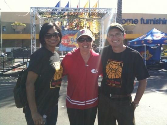 Marja Harmon, AJ star and Tony Freeman