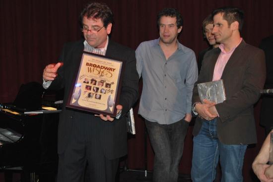 Make-A-Wish's Mark Pilon, James Wesley, Tim Howar, Seth Rudetsky at 2009 'BROADWAY WISHES' Benefit Concert After-Party