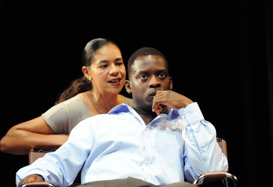 Jaye Griffiths and Kobna Holdbrook-Smith