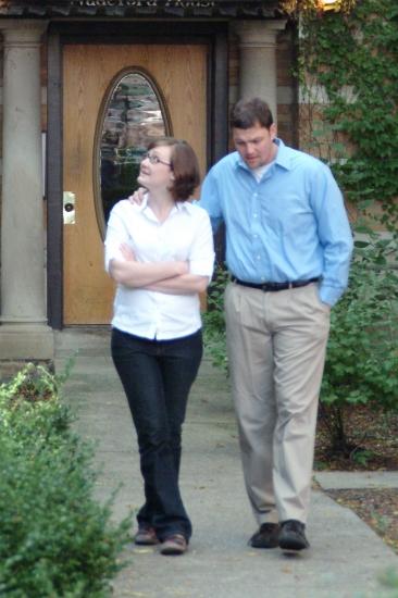 Meg Harkins and Jeff Taylor