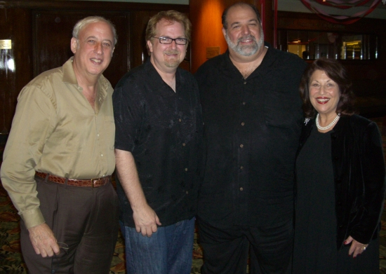 Chairman of the Board Dr. Lawrence E. Stein, writer Roger Bean, Artistic Director David Arisco, and Executive Producing Director Barbara S. Stein.