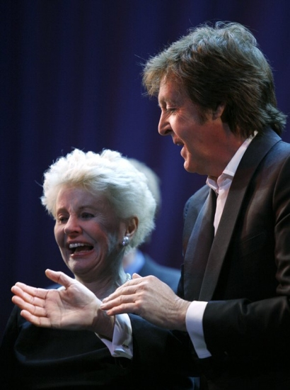 Jo Sullivan Loesser and Paul McCartney