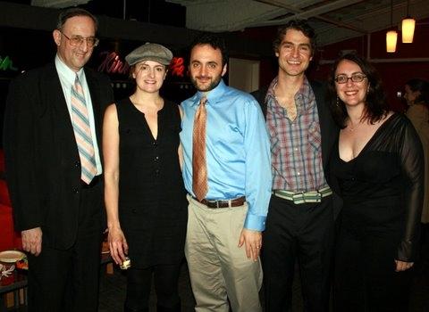 Victor L. Cahn, Keira Naughtom, director Eric Parness (with beard), Scott Barrow and  Photo